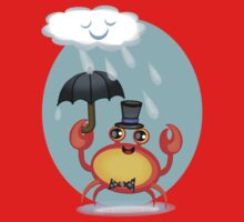 Singing In The Rain Crab T-Shirt by Jamie Wogan Edwards