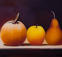 Pumpkin, Apple and a Pear by QiQiGallery