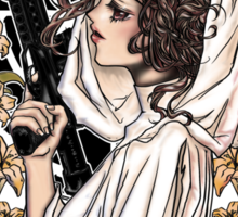 The force of the Princess Leia Sticker