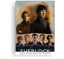 Sherlock Cast Portraits Canvas Print
