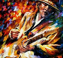 Stevie Ray Vaughan — Buy Now Link - www.etsy.com/listing/224836356 by Leonid  Afremov