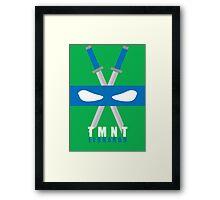 Leonardo - TMNT Minimaliste Framed Print
