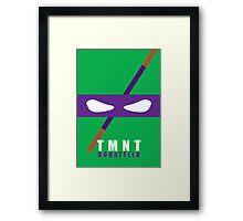 Donatello - TMNT Minimaliste Framed Print