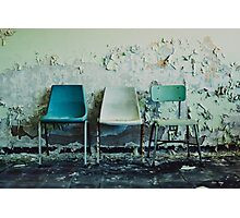 3 Chairs Photographic Print