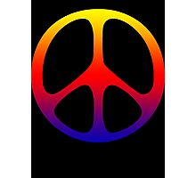 Rainbow 60s Peace Sign Symbol Photographic Print