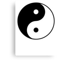 Asian Yin Yang Symbol Canvas Print