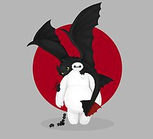 baymax and toothless by LamMoh