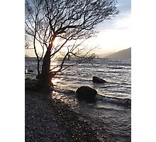 Alone by the Loch Photographic Print