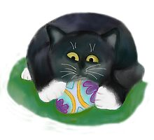 Kitten claims an Easter Egg by NineLivesStudio