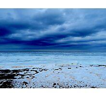 Blue Seashore Photographic Print