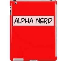 Alpha nerd iPad Case/Skin