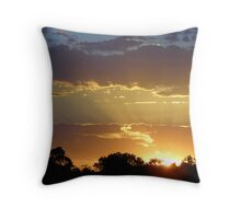 Sunset over Ballan! Throw Pillow