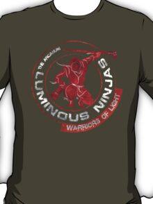 Luminous Ninjas - On Red (Textured) T-Shirt