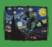 Godzilla versus Starry Night Kids Clothes