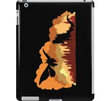 Godzilla versus Mothra cityscape iPad Case/Skin