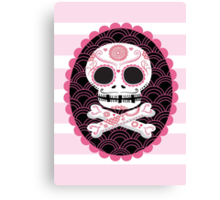Pink Sugar Skull Vector Canvas Print