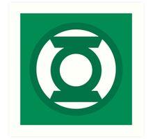 Green Lantern Logo Art Print