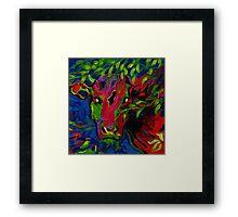 Colourful cow! Framed Print