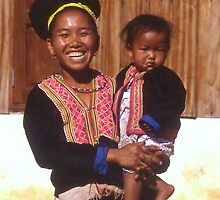 Smiling Lady of Hmong Tribe by Peter Stephenson