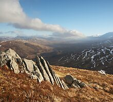Glen Roy from Carn Dearg. by John Cameron