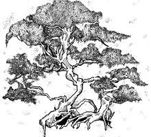 Bonsai Tree Original Artwork by NicxleArnxld