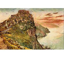 Castle Rock in the Valley of Rocks, Lynton and Lynmouth, North Devon, England Photographic Print