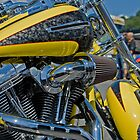 Yellow Motorcycle by Jesse Simmers