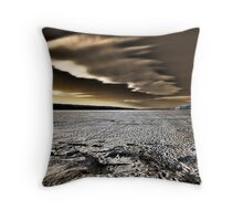 Blowing By Throw Pillow