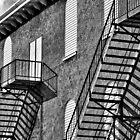 HDR of Stairs B&W by Jesse Simmers