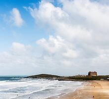 Fistral Beach,North Cornwall by Laura Davey