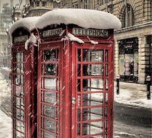 Phone box - snow! by NrthLondonBoy