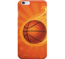 Fire Basketball Ball Background iPhone Case/Skin