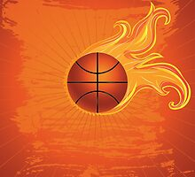 Fire Basketball Ball Background 2 by AnnArtshock