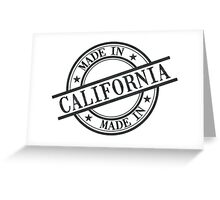 Made In California Stamp Style Logo Symbol Black Greeting Card