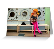 Helen at the Laundrette Greeting Card