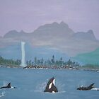 Whales by the Shore by cdcantrell