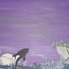 Killer whales in the moon light by cdcantrell