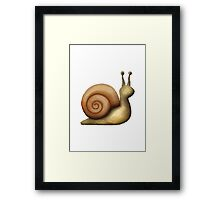Snail Apple / WhatsApp Emoji Framed Print