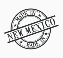 Made In New Mexico Stamp Style Logo Symbol Black Kids Clothes