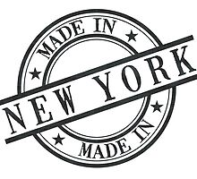 Made In New York Stamp Style Logo Symbol Black by surgedesigns