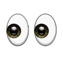 Eyes Apple / WhatsApp Emoji by emoji
