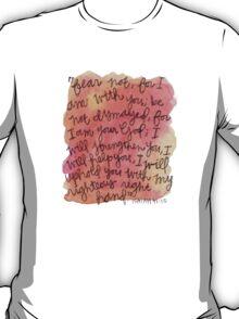 Isaiah 41:10 Watercolor Print T-Shirt