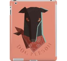 dog person iPad Case/Skin