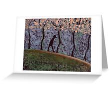 Man Walking through trees Greeting Card