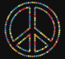 Colored Circles Peace Sign Symbol by popculture