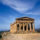 Temple of Concordia Valley of the Temples Agrigento Sicily Italy by Luigi Petro