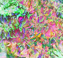 Digital Oil Leaves and Colors by Juana Maria Garcia Domenech