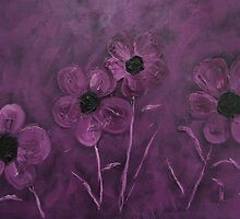 Purple Flowers by MidnightAkita