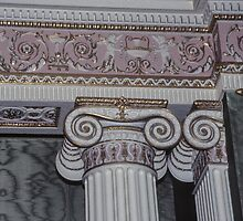 Wall capital in sideboard room Harewood House 1759 1771 West Yorkshire England 198406030015 by Fred Mitchell