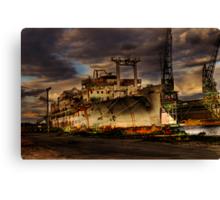 At The Docks Canvas Print